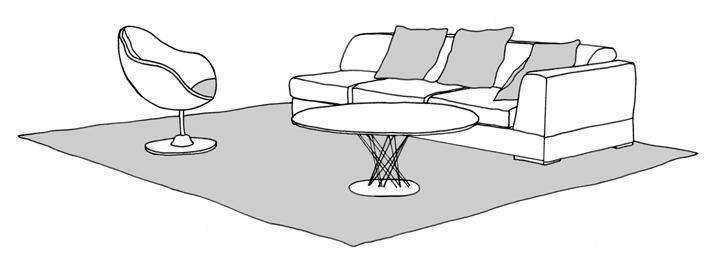 furniture on rug