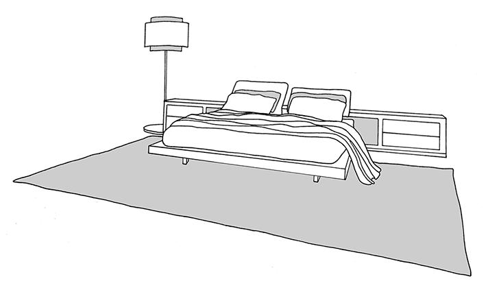 rug under bed