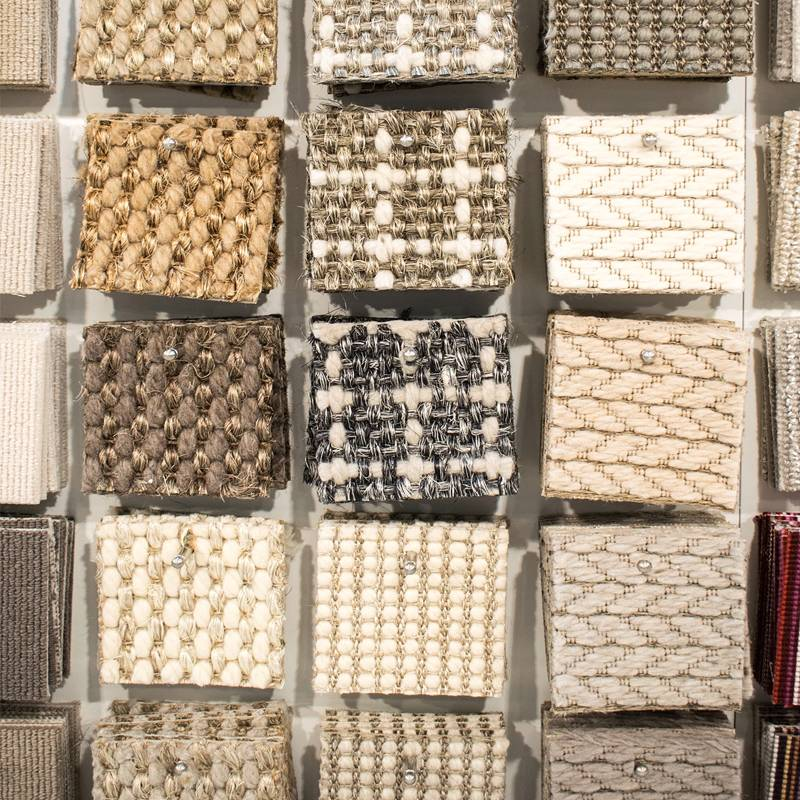 Natural weave and border samples